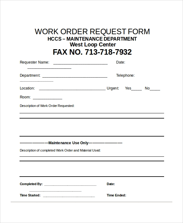 sample work order request form1