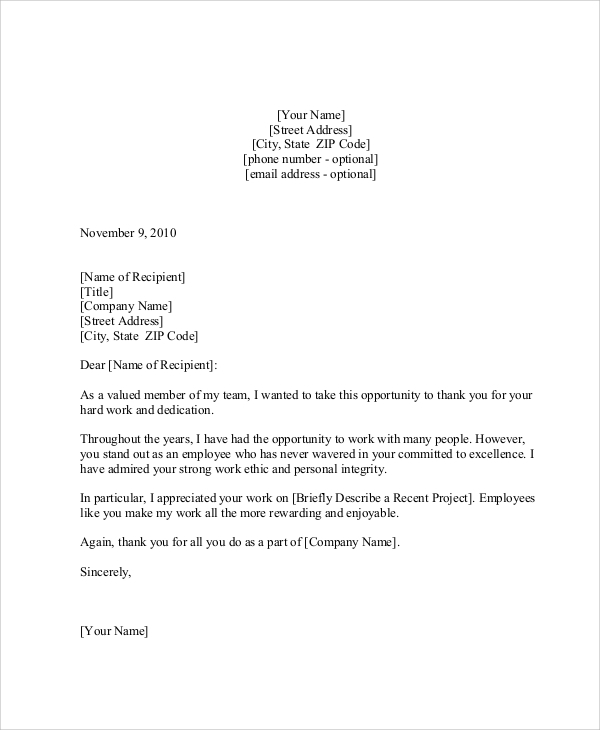 33+ Examples Of Thank You Letter
