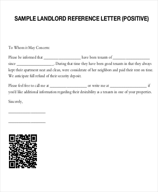 Sample Tenant Recommendation Letter  Free Sample Example