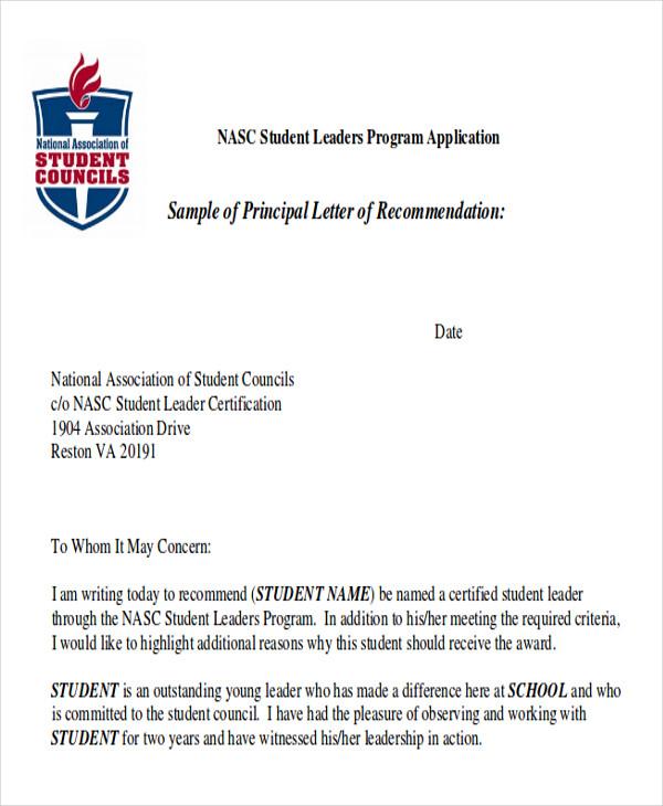 9  sample high school recommendation letter