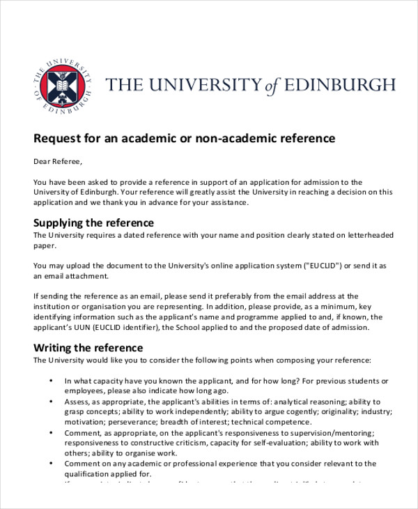 Sample Academic Reference Letter Postgraduate Uk Cover Letter Of