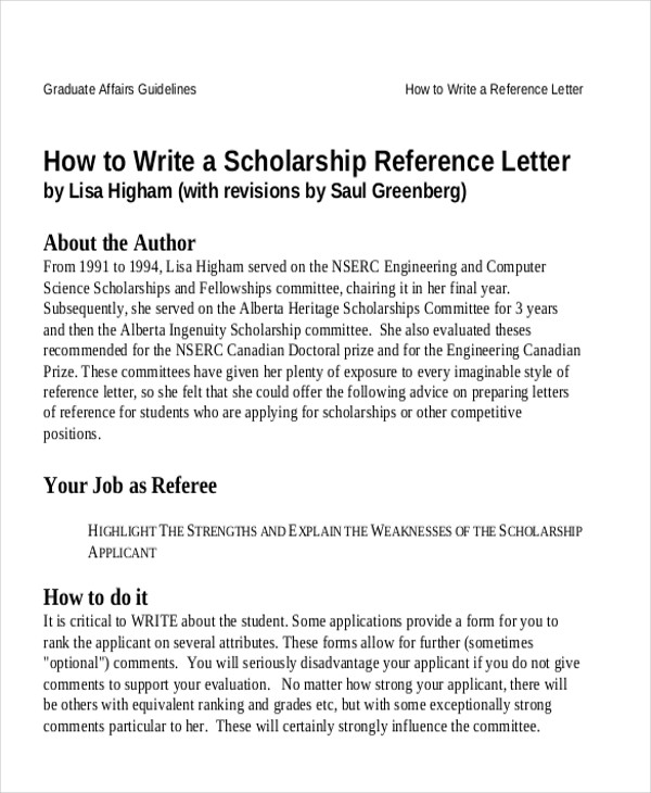 7 sample reference letter for students sample templates reference letter for student scholarship spiritdancerdesigns Images