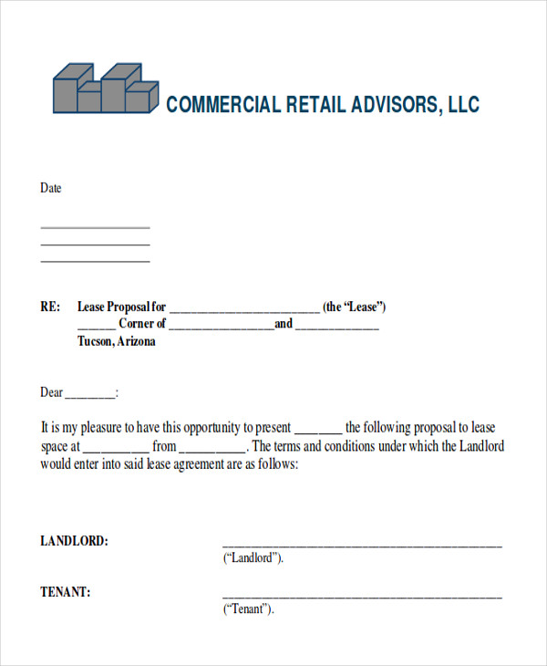 14  sample lease proposal letters