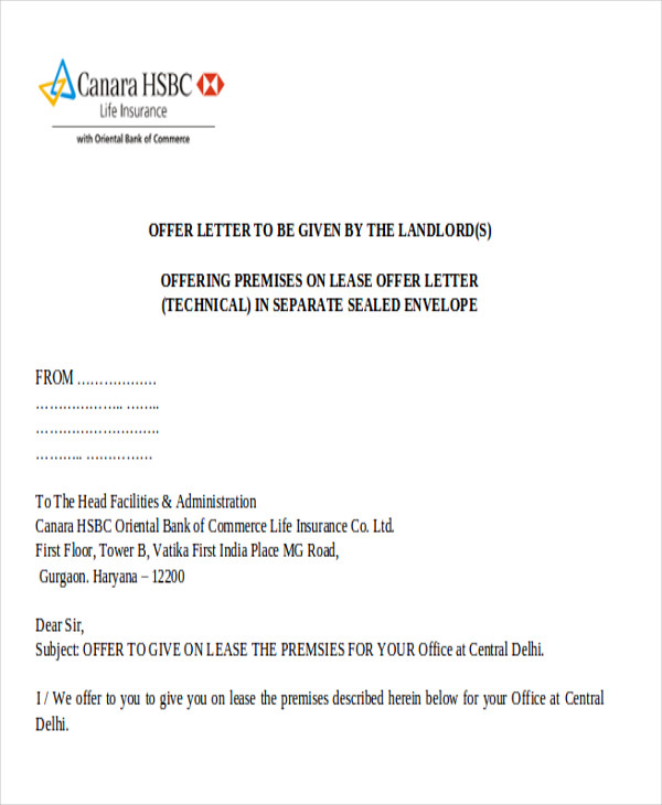 Land Lease Proposal Letter Free Sample Letters Inducedfo