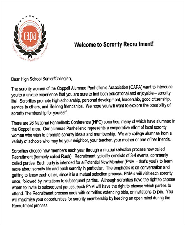 7  sample sorority recommendation letters