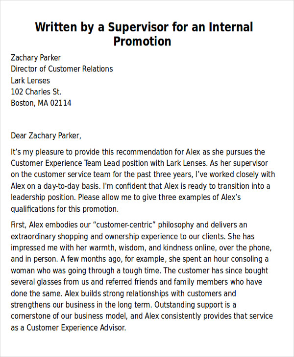 Sample Coworker Recommendation Letter  Free Sample Example