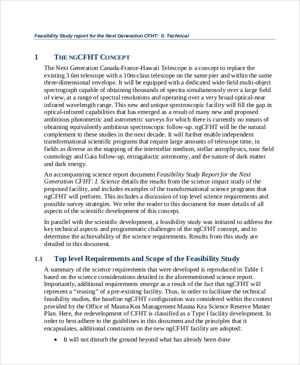 11+ Sample Feasibility Report - Free Sample, Example, Format Download