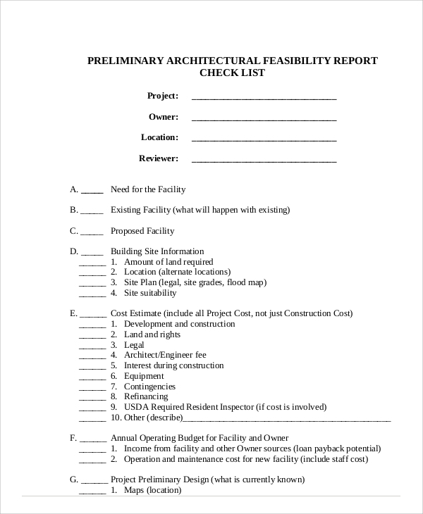 architecture feasibility report