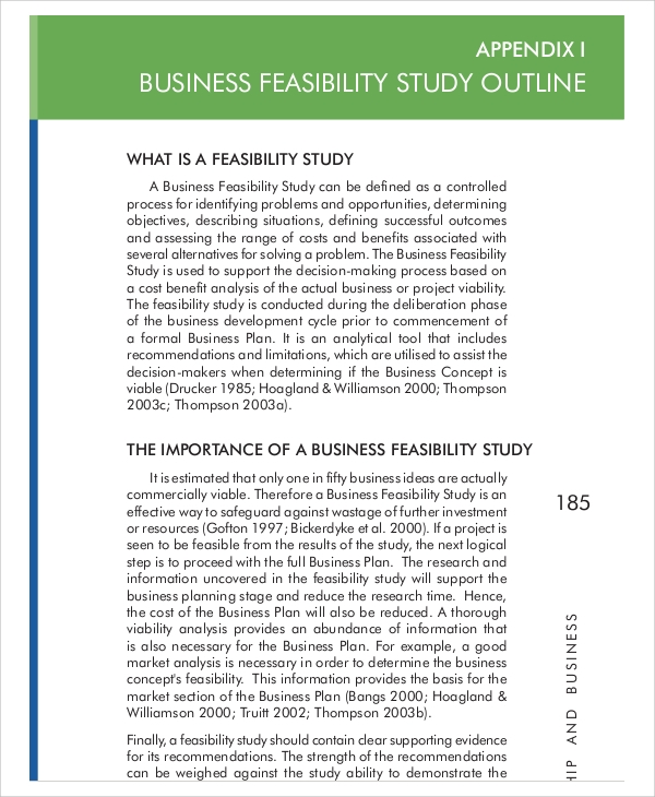 11 sample feasibility reports pdf sample templates for Business feasibility study template free download