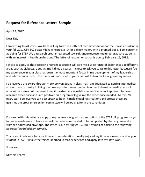 Sample Reference ThankYou Letters  Free Sample Example
