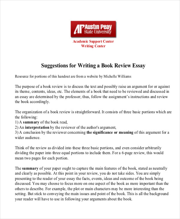 Book report essay