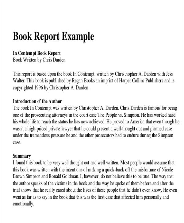 10+ Sample Book Report - Free Sample, Example, Format Download