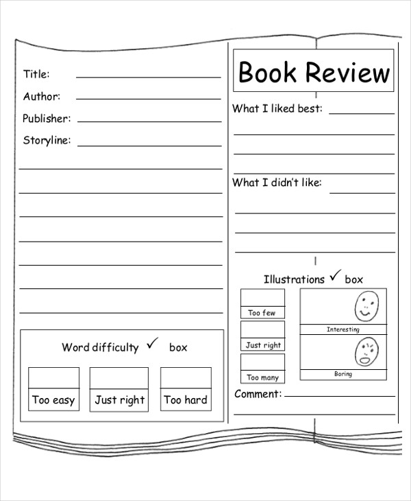 free book report worksheet