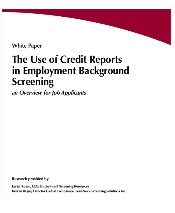 background check credit report