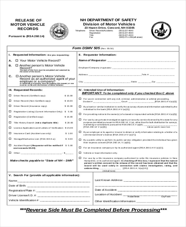 7 sample background check reports sample templates for Motor vehicle record check