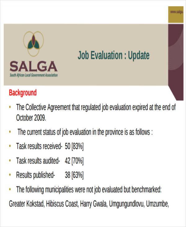 Sample Job Evaluation Report - 8+ Examples In Word, Pdf