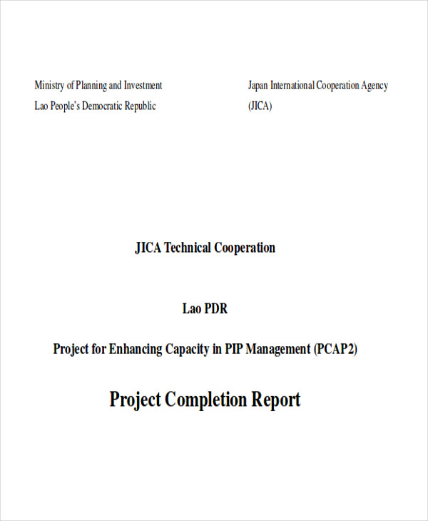 project completion report1