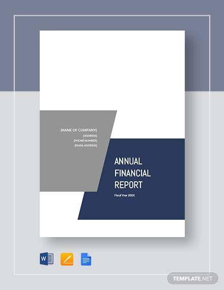 annual financial business report