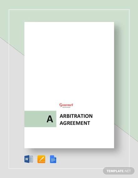arbitration agreement for restaurant