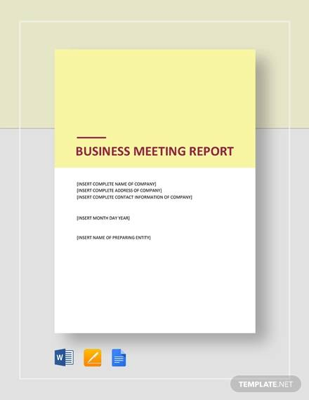 business meeting report1