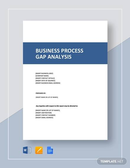 business process gap analysis template