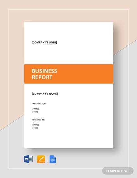 business report sample1