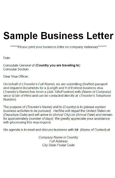 company business letter in ms word
