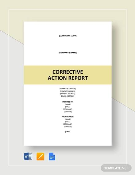 corrective action report