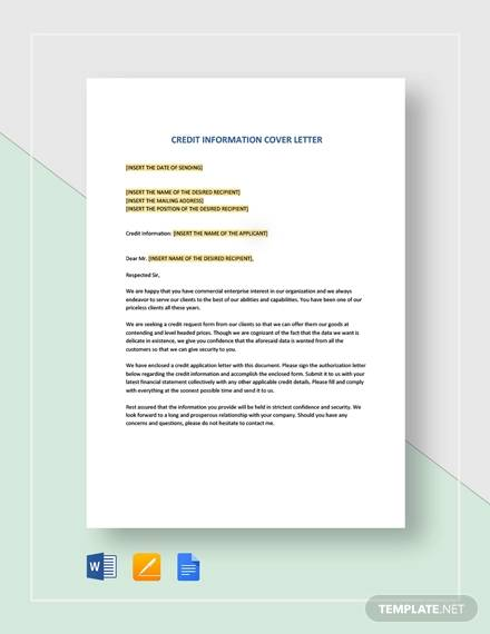 credit information cover letter template1