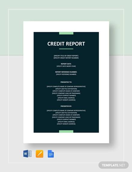credit report template