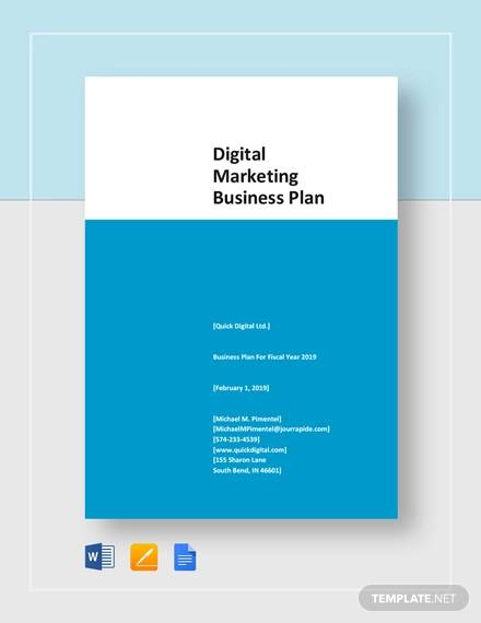 digital marketing business plan template