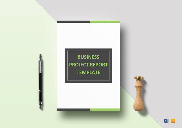 easy to print business project report template
