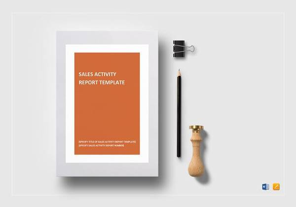 editable sales activity report template