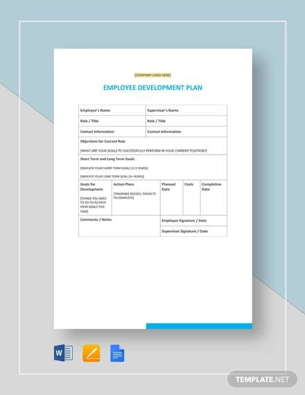 employee development plan template3