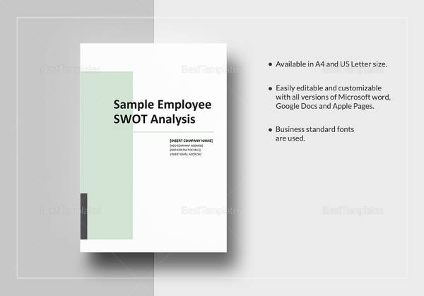 13 swot analysis sample free sample example format download employee swot analysis template in word saigontimesfo