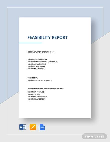 feasibility report template1