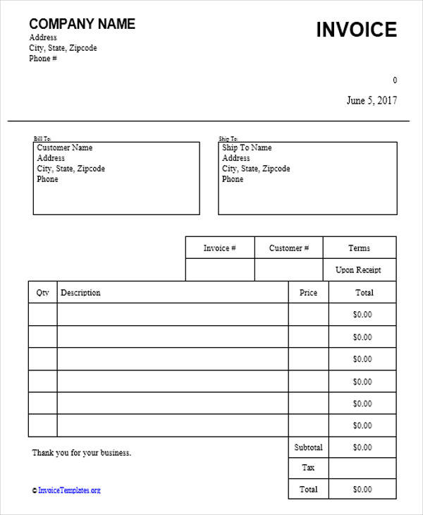 Dj Invoice Samples  Examples In Pdf Word