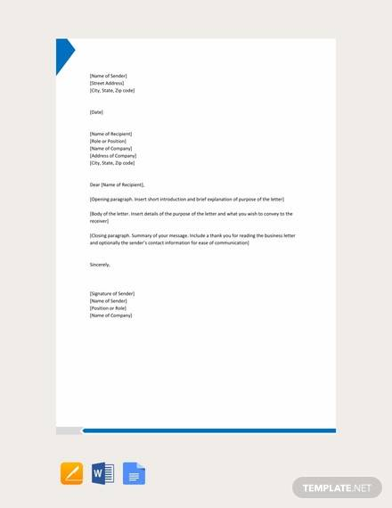 Free 43  Examples Of Formal Letter Templates In Ms Word