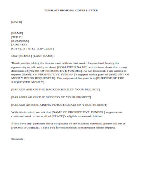 general grant proposal letter