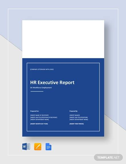 hr executive report template