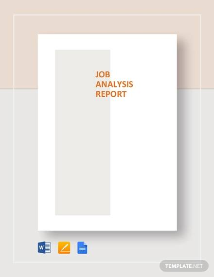 job analysis report