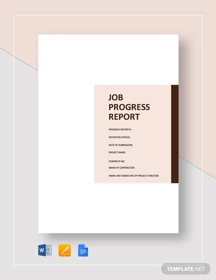job progress