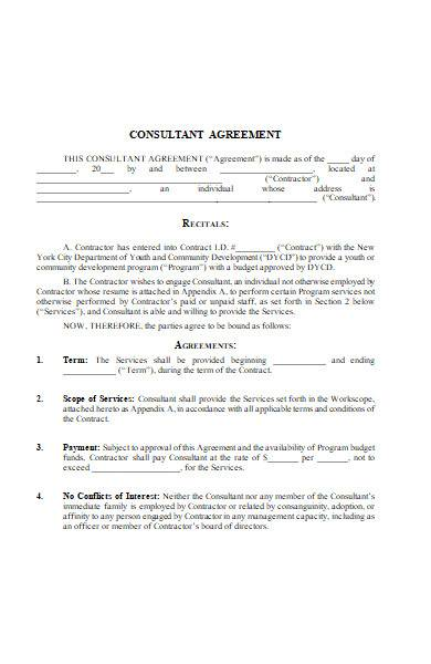 management consulting agreement in ms word