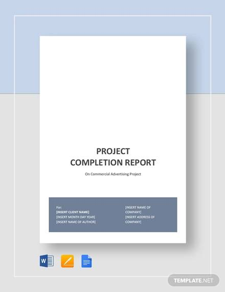 project completion report template1