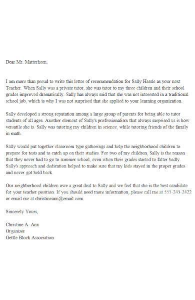 reference letter for teacher example1