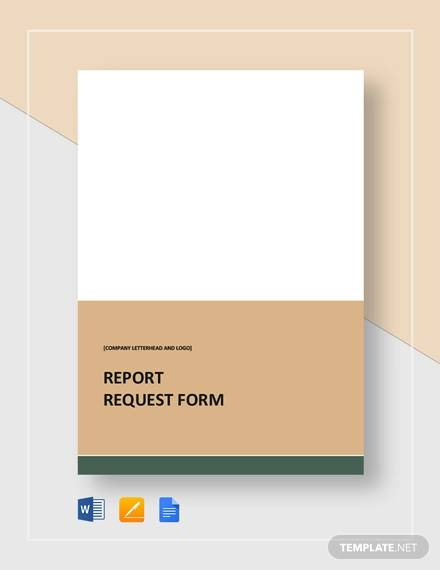 report request form template