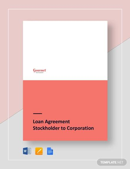 restaurant loan agreement s