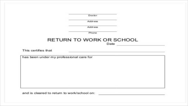 Return To Work Letter From Doctor Template from images.sampletemplates.com