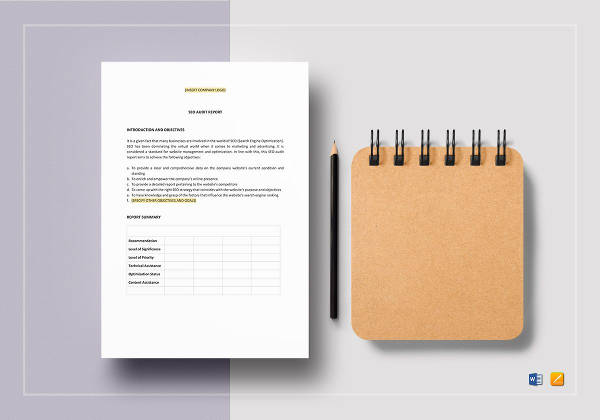 seo audit report template to print