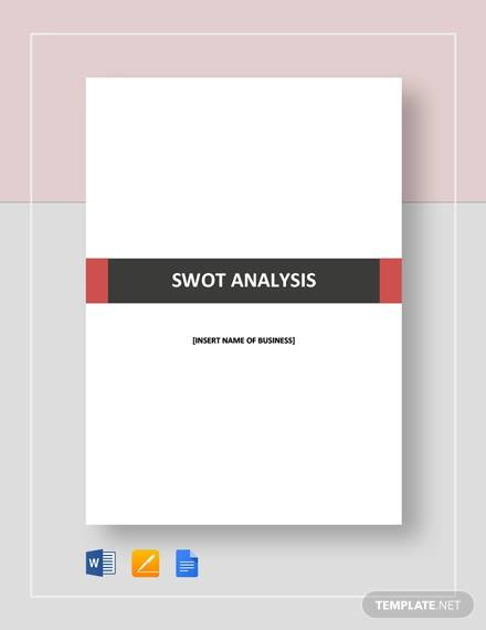 swot analysis template for business plan
